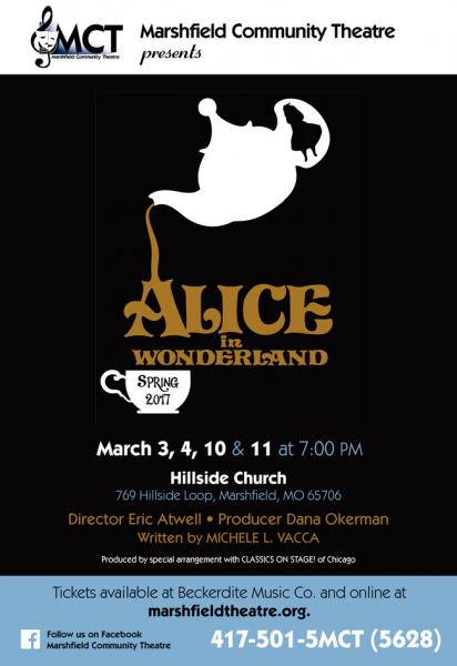 Marshfield Community Theatre Presents Alice in Wonderland