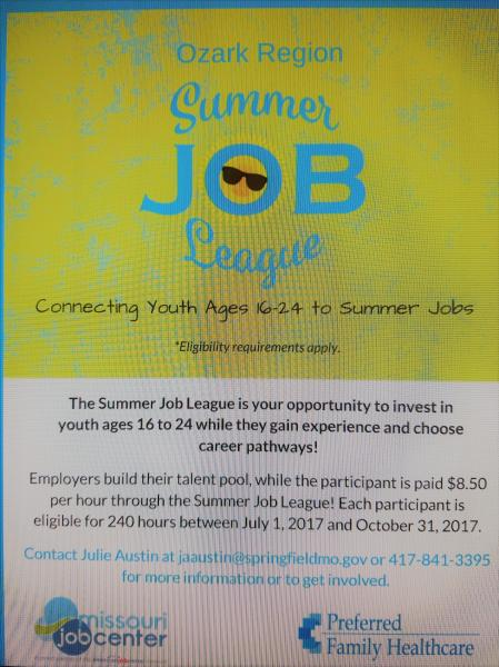 Ozark Region Summer Job League