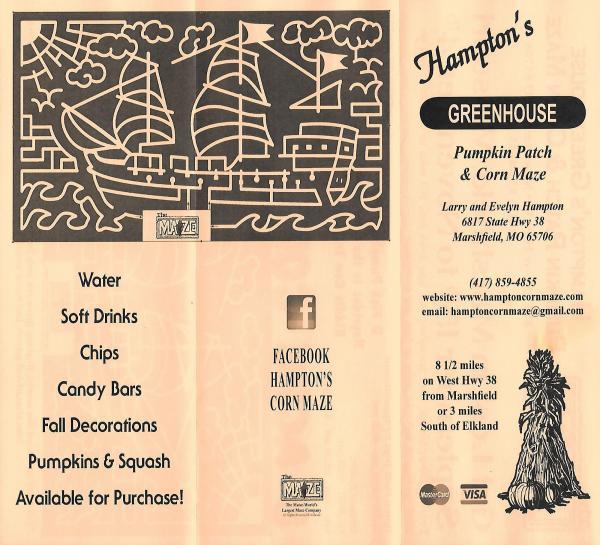 Hampton's Greenhouse Pumpkin Patch and Corn Maze