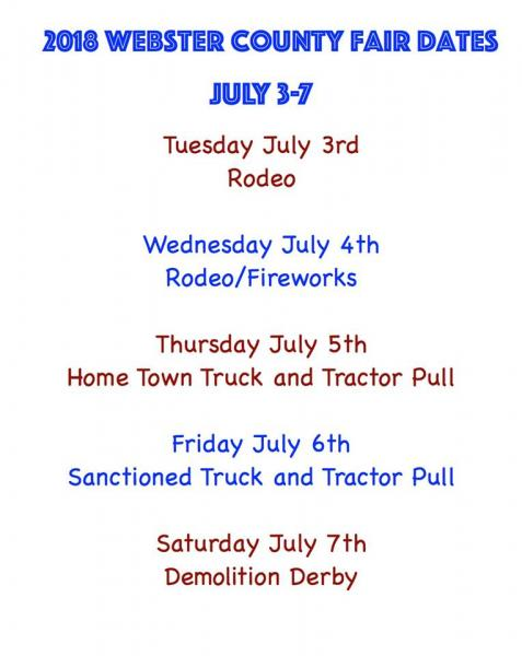 2018 Webster County Fair and Rodeo