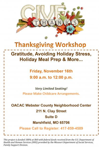 Thanksgiving Workshop