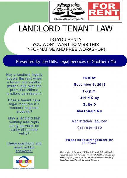 Landlord Tenant Law