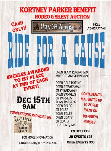 Ride For A Cause - Kortney Parker Benefit Rodeo
