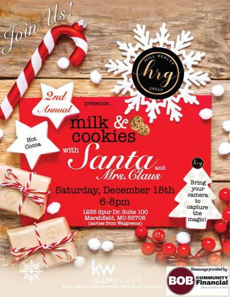 2nd Annual Milk & Cookies with Santa and Mrs. Claus!
