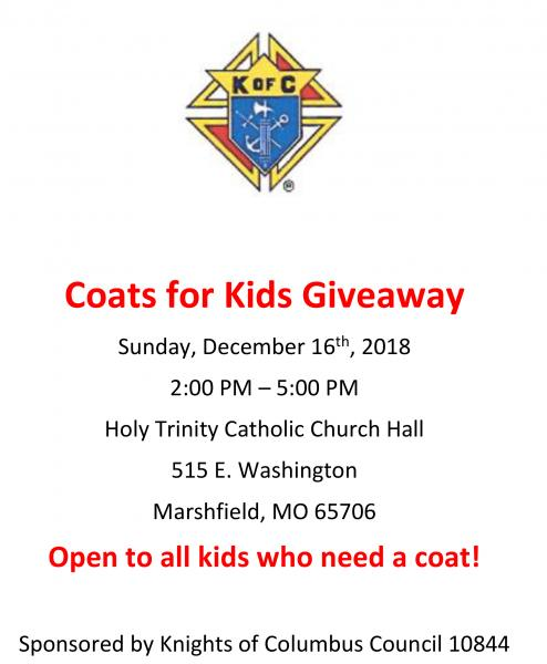 Coats for Kids Giveaway
