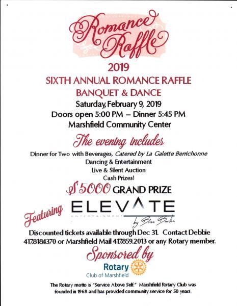 Sixth Annual Romance Raffle Banquet & Dance