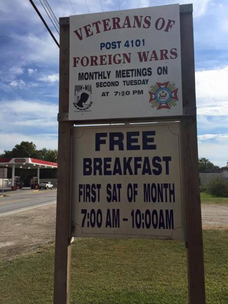 VFW Post 4101 Monthly Breakfast