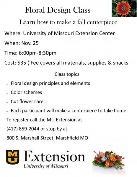 Floral Design - Fall Centerpiece Class