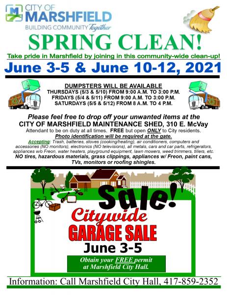 City Wide Garage Sale & Spring Clean