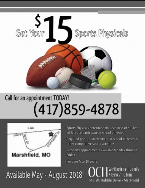 $15 Sports Physicals at OCH Wellpointe!