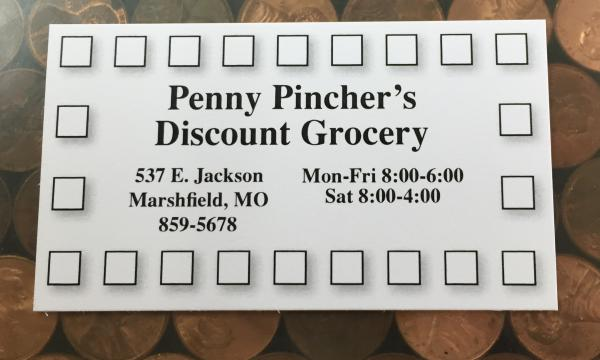 Penny Pinchers Punch Card!