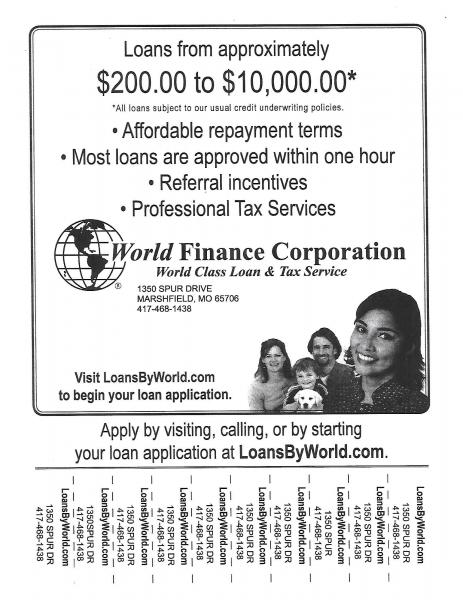 World Finance Loans and Tax Service