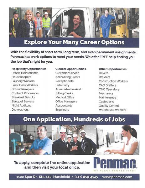 Career Options through Penmac!